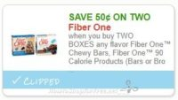 **NEW Printable Coupon** .50/2 Fiber One™ Chewy Bars, Fiber One™ 90 Calorie Products