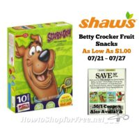 Betty Crocker Fruit Snacks As Low As $1.00 at Shaw's 07/21 ~ 07/27!