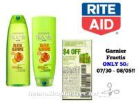 Garnier Fructis ONLY 50¢ at Rite Aid 07/30 ~ 08/05!!