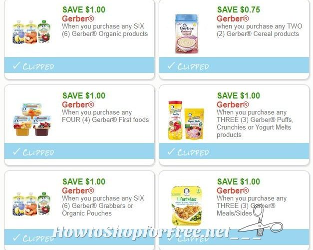 **NEW Printable Coupons**6 Gerber Coupons Pre-Clipped for You!