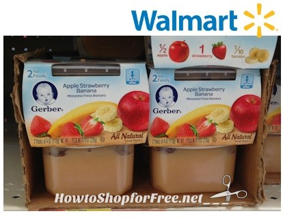 63¢ Gerber First Foods at Walmart