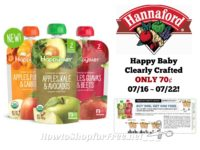 Happy Baby Clearly Crafted ONLY 70¢ at Hannaford 07/16 ~ 07/22!