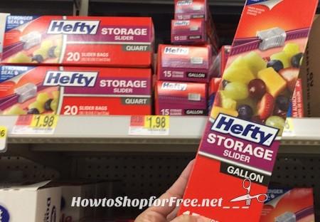98¢ Hefty Slider Bags at Walmart