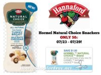 Hormel Natural Choice Snackers ONLY 50¢ at Hannaford 07/23 ~ 07/29!