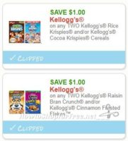 **NEW Printable Coupons** 2 Kellogg's Coupons Pre-Clipped for You!