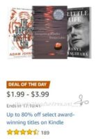 **Amazon Deal of the Day** Save up to 80% on Award-Winning Kindle Titles!