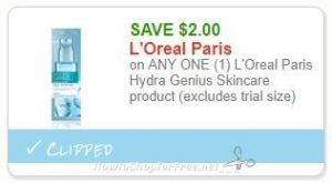 image about L Oreal Printable Coupons called Fresh Printable Coupon** $2.00/1 LOreal Paris Hydra Genius