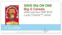Save $0.50 when you buy ONE BOX Lucky Charms™ cereal