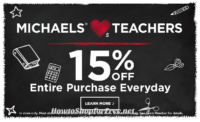 Teachers, Remember to Snag EXTRA Savings at Michael's!