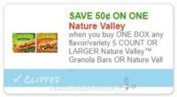 **NEW Printable Coupon** .50/1 Nature Valley™ Granola Bars OR Nature Valley™ Backpacker™