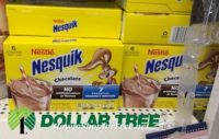 25¢ Nesquik Drink Mix (6ct) at Dollar Tree!