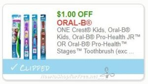 picture relating to Oral B Printable Coupons titled Fresh new Printable Coupon** $1.00/1 Decide on Young children Crest or Oral-B