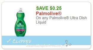**NEW Printable Coupon** .25/1 Palmolive Ultra Dish Liquid