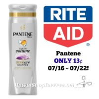 Pantene ONLY 13¢ at Rite Aid 07/16 ~ 07/23!