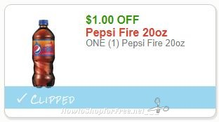 Save $1.00 ONE (1) Pepsi Fire 20oz