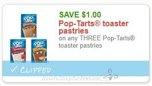 **NEW Printable Coupon** $1.00/3 Pop-Tarts toaster pastries