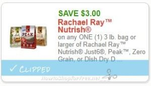 picture about Printable Rachael Ray Dog Food Coupons named Clean Printable Coupon** $3.00/1 3 lb. bag or bigger of