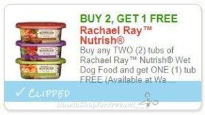 "photo relating to Printable Rachael Ray Dog Food Coupons referred to as Fresh new Printable Coupon**B2G1 No cost Rachael Rayâ""¢ Nutrish Moist Doggy"