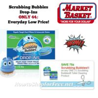 Scrubbing Bubbles Drop-Ins ONLY 44¢ at Market Basket ~ Everyday Low Price!!