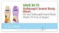 **NEW Printable Coupon ** .75/1 Softsoap brand Body Wash