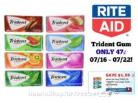 Trident Gum ONLY 47¢ at Rite Aid 07/16 ~ 07/22!