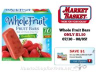 Whole Fruit Bars ONLY $1.50 at Market Basket 07/30 ~ 08/05!!