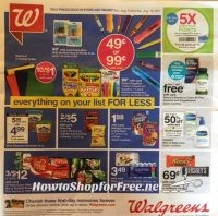 Walgreen's EARLY AD Scan  8/13 – 8/19