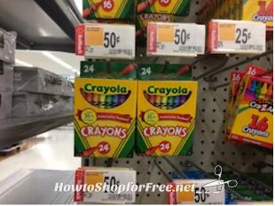 50¢ Crayola Crayons at Walmart!