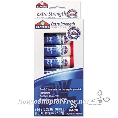 Elmer's Extra Strength Office Glue Sticks, 19¢ per stick!!