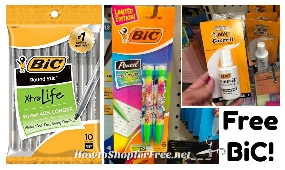 FREE BiC Pens, Pencils & Cover-It at Dollar Tree!