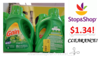 Gain Detergent only $1.34 at Stop & Shop! ~CLEARANCE FIND!