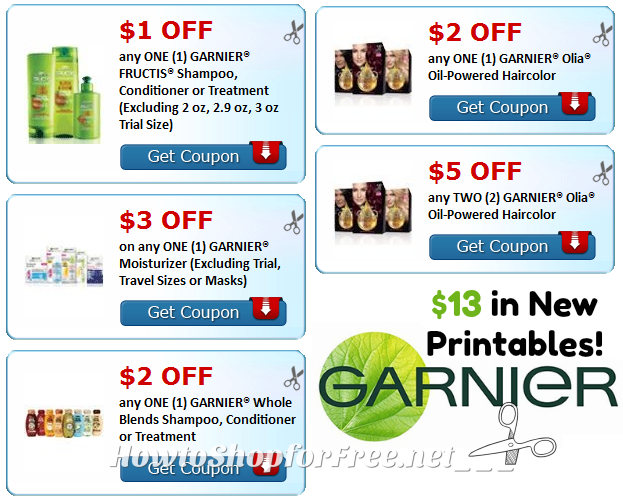 NEW Garnier Savings Galore! $13 in Printable Coupons!