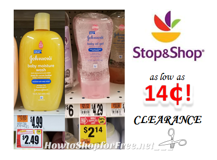 Johnson & Johnson Baby Products as low as $.14 at Stop & Shop!