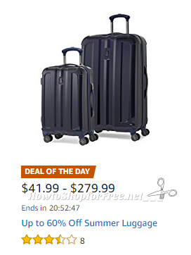 Deal of the Day~ Up to 60% Off Summer Luggage