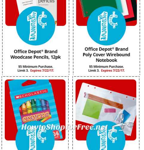 School Supplies from 01¢ at Office Depot!! *HOT*