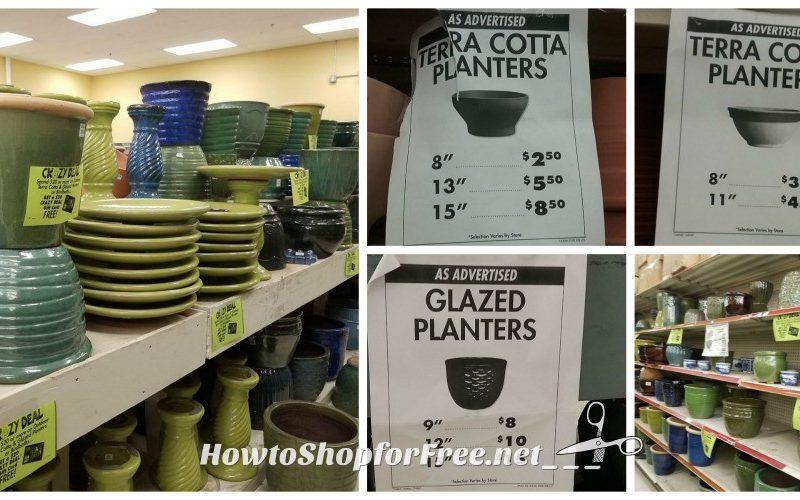 Stylish Planters & Birdbaths as low as as FREE at Job Lot!
