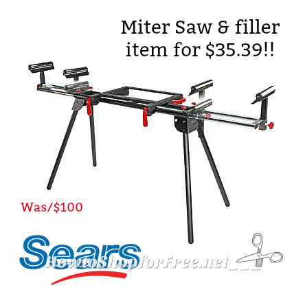 Craftsman Universal Miter Saw, about $35 from Sears with deal!