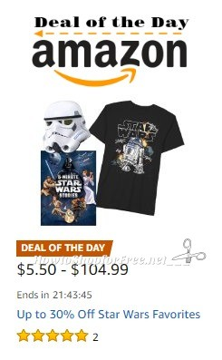 Up to 30% Off Star Wars Favorites ~Deal of the Day