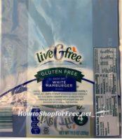 ALDI Recall~ LiveGfree Gluten Free Classic Soft White Hamburger Buns