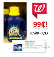 Oxi Clean Detergent only $.99 Walgreen's!