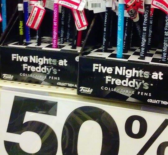 $1.98 Five Nights at Freddy's Collectible Pens!!!!