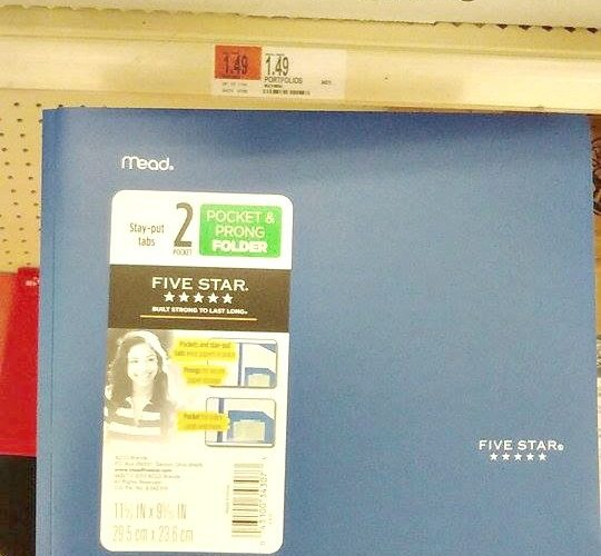 99¢ Five Star Folders at Target! #BackToSchool Must!