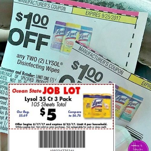 Lysol Wipes $1.50/canister at #OSJL this week!