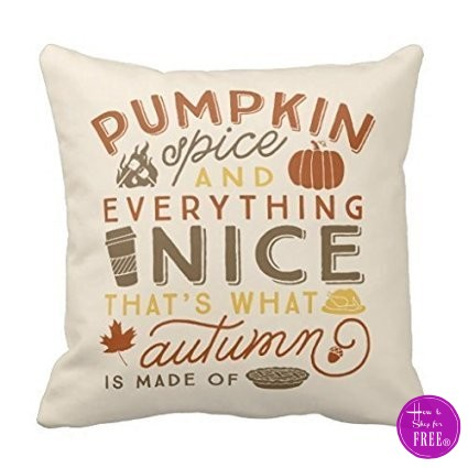 18″ Pumpkin Spice Pillowcase, $2.84 + Free Ship!