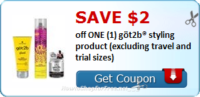 SAVE $2.00 off (1) göt2b® styling product (excluding travel and trial sizes)