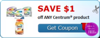 SAVE $1.00 off ANY Centrum® product