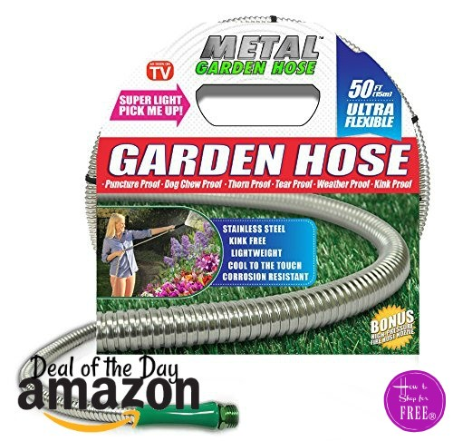 50′ Metal Garden Hose, As Seen On TV~ $29 Shipped!