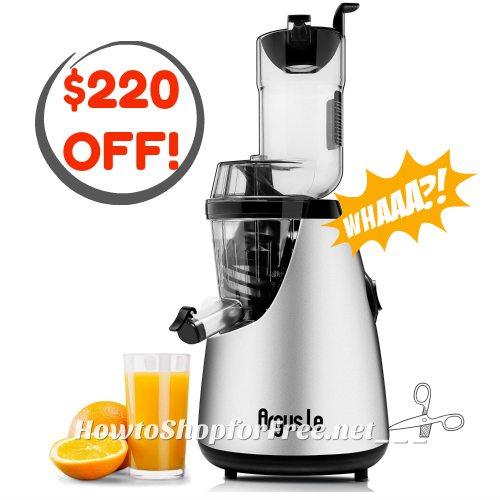 Argus Slow Juicer 69% OFF!! ~Deal of the Day