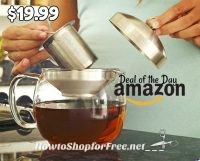 $19.99 Willow & Everett Glass Teapot Infuser, Today Only!