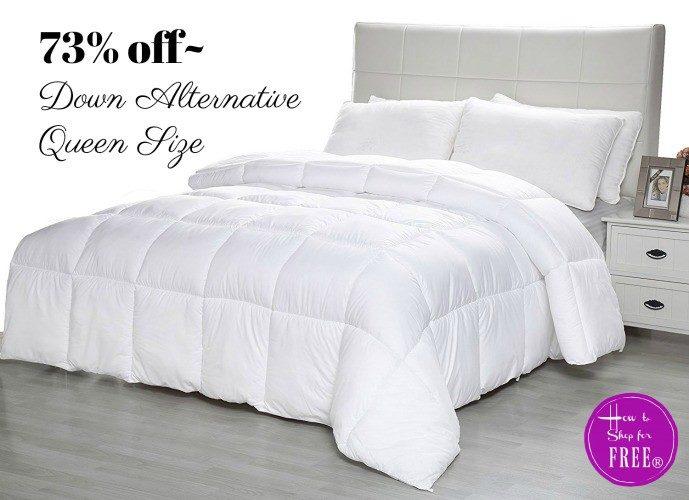$24 Down Alternative Comforter (Queen) ~Was $90!